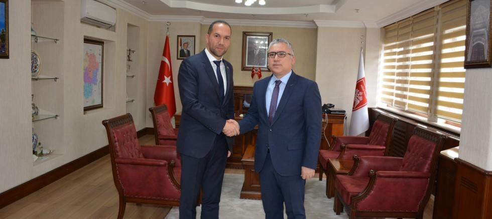 Başkan Emrah Özdemir Vali Şimşek'i Makamında Ziyaret Etti