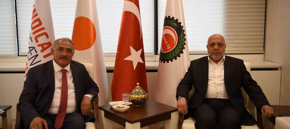 Başkan Özkan'dan Hak-İş Genel Başkanına Ziyaret