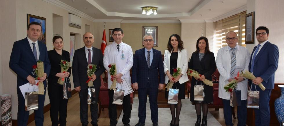 Doktorlardan Vali Şimşek'e Tıp Bayramı Ziyareti