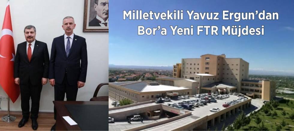 Ergun'dan Bor İlçesine Yeni Fizik Tedavi Hastanesi Müjdesi