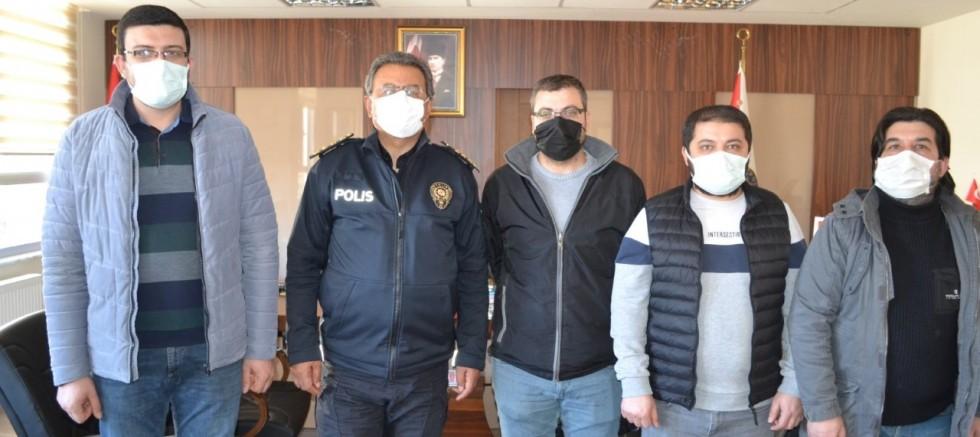 Gazetecilerden Emniyet Müdürü Erkan Mete'ye Ziyaret