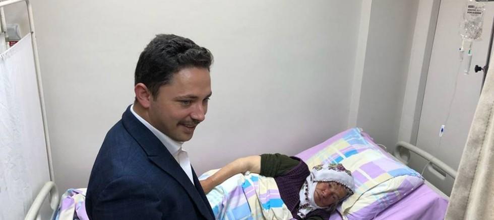Kaymakam Kayabaşı'ndan Hastane Ziyareti