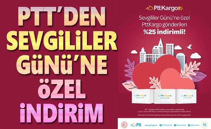 PTT'DEN SEVGİLİLER GÜNÜ'NE ÖZEL İNDİRİM