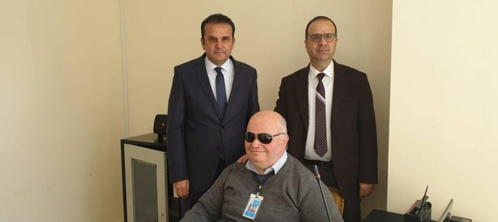 Sağlık İl Müdüründen Görme Engelli Personele Ziyaret
